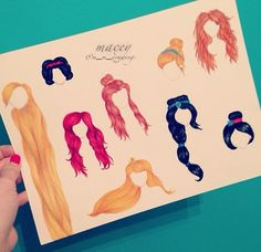 Drawn princess hairstyle disney Princesses Disney Pinterest hairstyles Princesses
