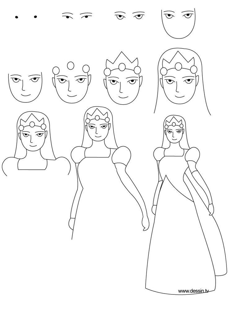 Drawn princess hard On Step Draw to Princess