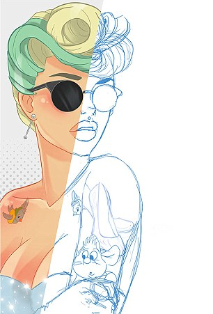 Drawn princess hipster Princesses +7 get by Viola