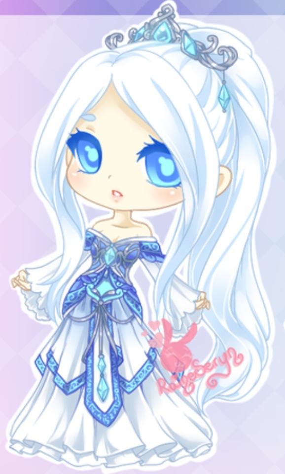 Drawn princess ice princess Anime Ice Ice and Chibi