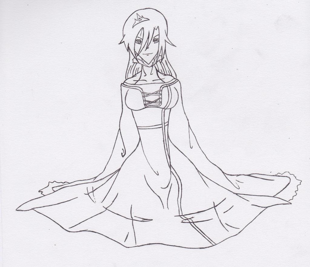 Drawn princess ice princess Lineart  on Ice Princess
