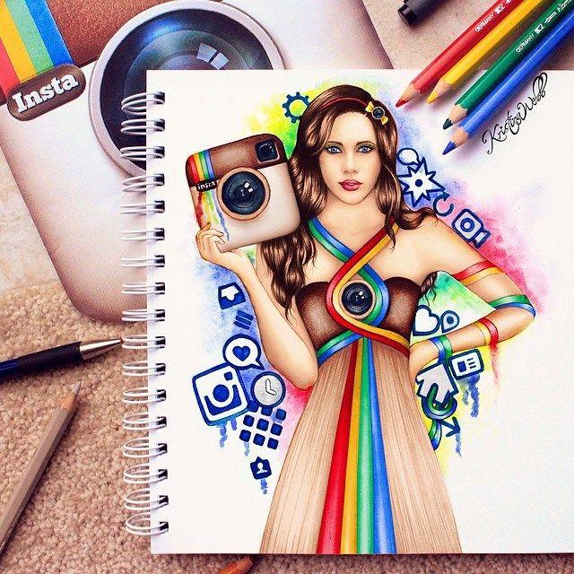 Drawn princess instagram Pinterest logo on Kristina Best