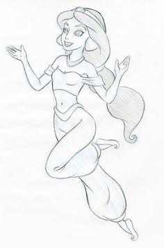 Drawn princess jasmine Pencil Disney Jasmine Jasmin more
