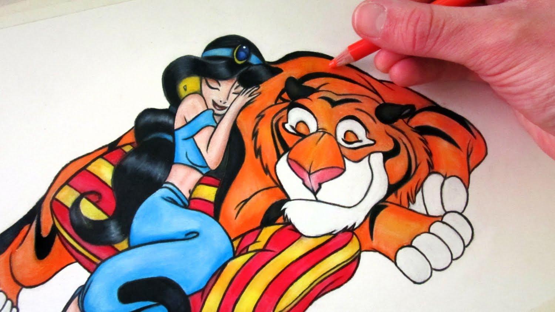 Drawn princess jasmine YouTube Princess and Rajah to