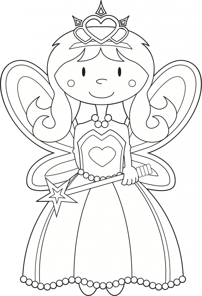 Drawn princess kid coloring page FAIRY Coloring COLORING Draw COLORING