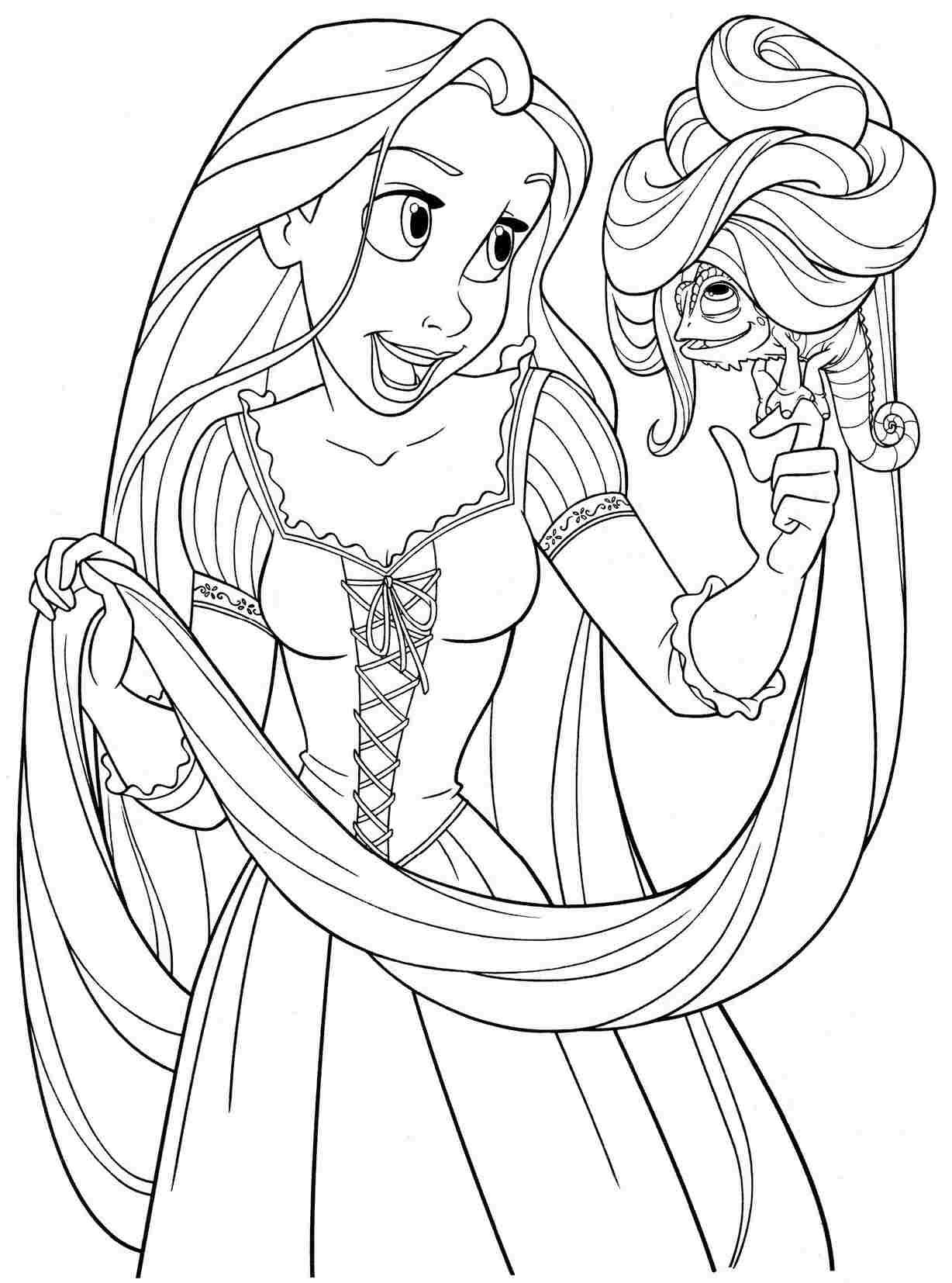 Drawn princess kid coloring page Printable princess colouring for princess