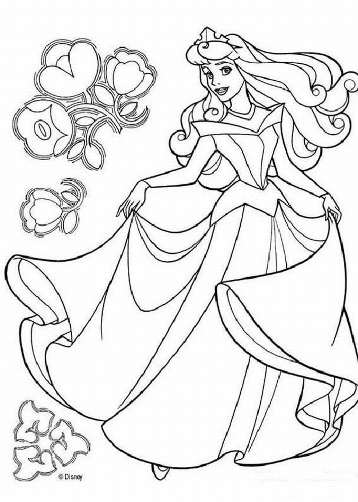 Drawn princess kid coloring page Coloring Free Disney Disney Pages