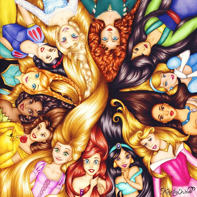 Drawn princess kristina webb Color by artists kristina com/25