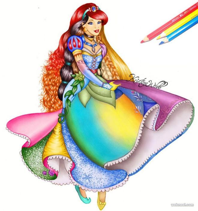 Drawn princess kristina webb Color by Art kristinawebb drawing