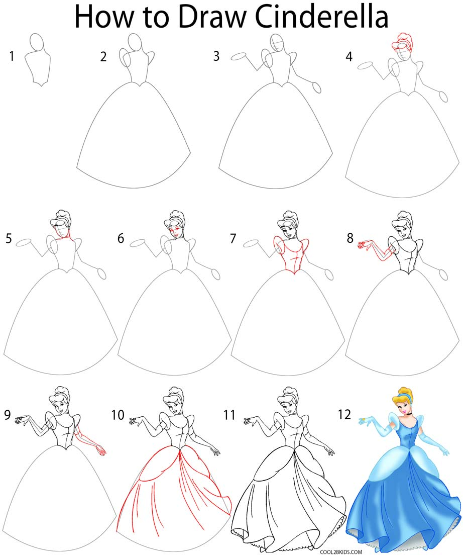 Drawn princess line drawing To Draw Pinterest Step How