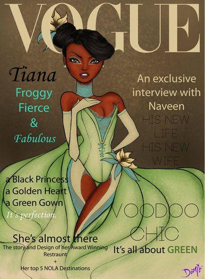 Drawn princess magazine Fashionable Disney These Princess Vogue