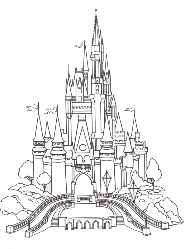 Amd clipart castle Color happy coloring Kingdom Magic