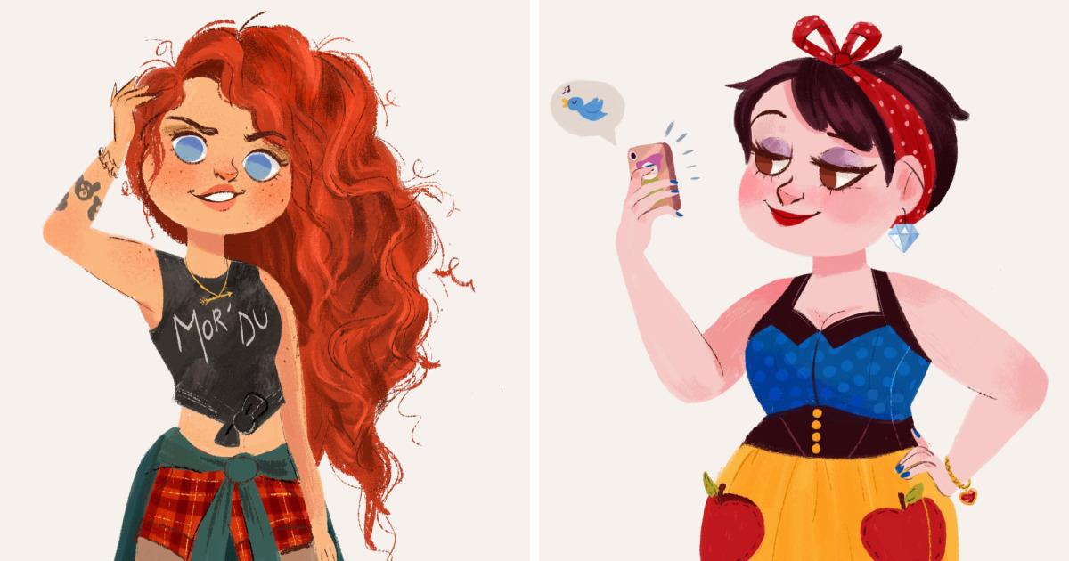 Drawn princess modern  As I Illustrated Day