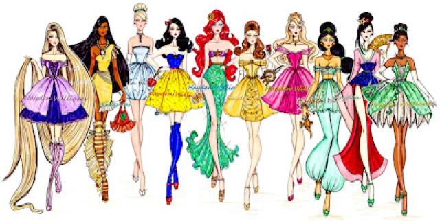 Drawn princess modern British Disney as original the