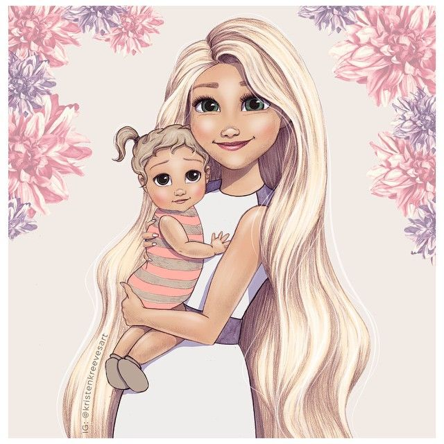 Drawn princess mom About by Rapunzel  on