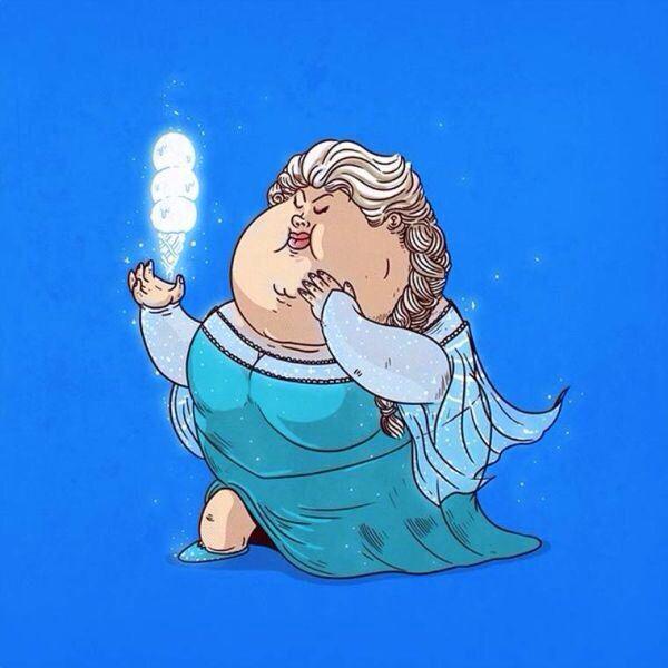Drawn princess obese 25+ The Fat Princess character