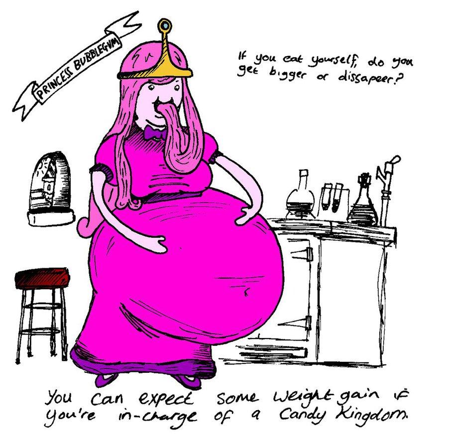 Drawn princess obese By Bubblegum DeviantArt Fat Princess