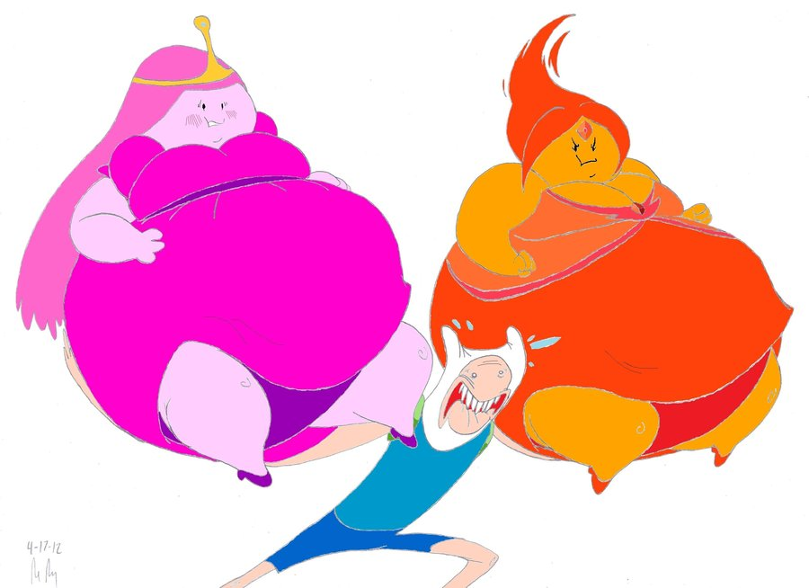 Drawn princess obese Time bigbellys Adventure by (Colored)