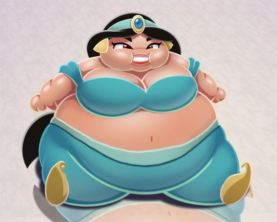 Drawn princess obese By princess Jasmine Fat on