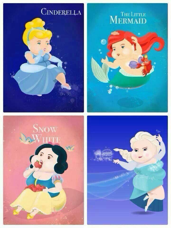 Drawn princess overweight By TubbyToon  Jasmine Princess
