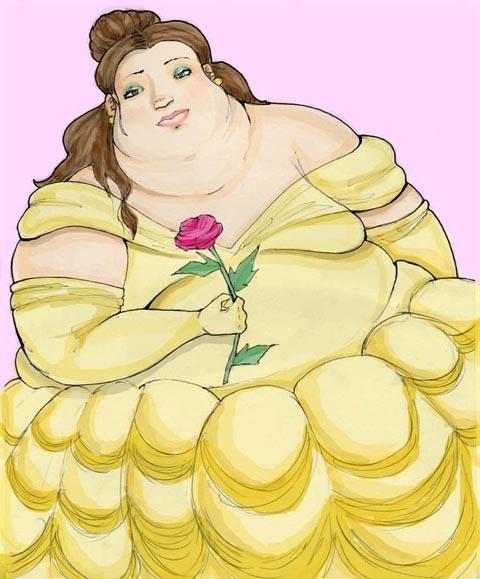 Drawn princess overweight Fat Belle Pinterest Fat Belle