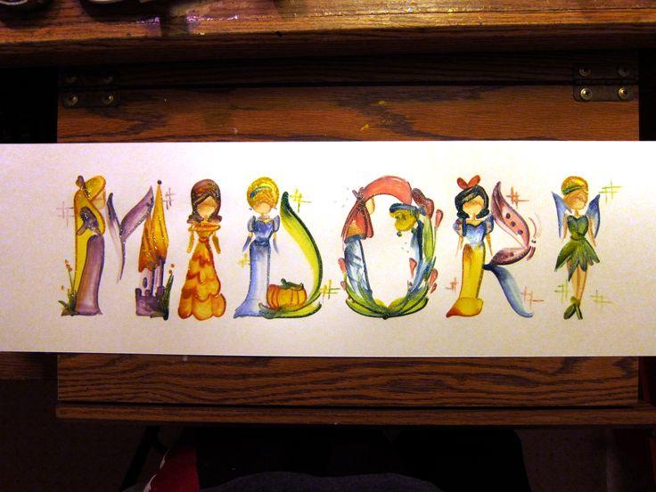 Drawn princess paint Princess Princess Painting on Midori