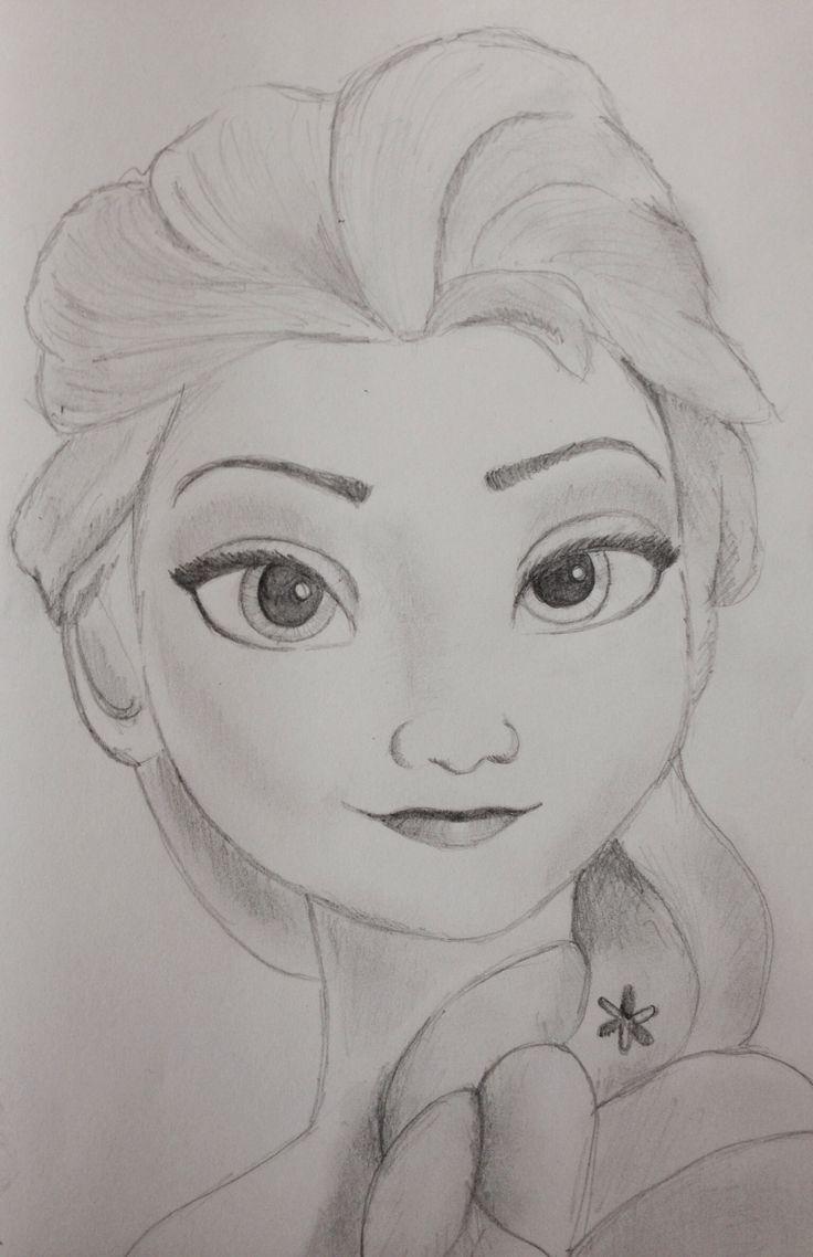 Drawn princess pencil sketch Sketch Frozen Princess Disney Elsa