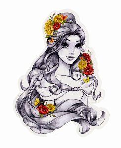 Drawn princess pretty princess Ideas … Belle tumblr found