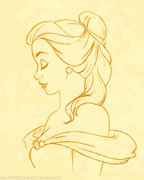 Drawn princess pretty princess So and Belle pretty pretty