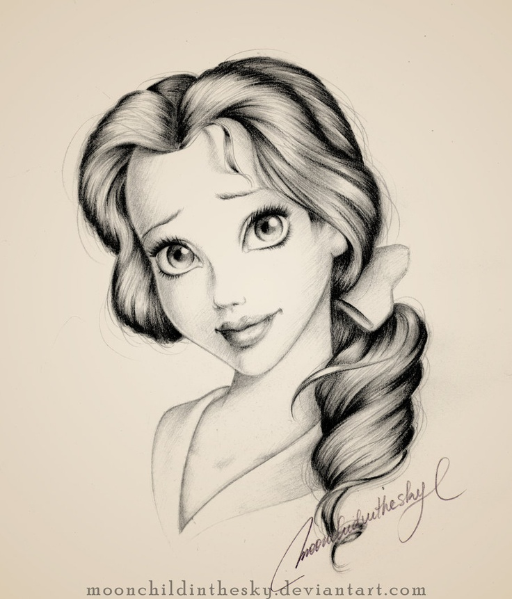 Drawn princess pretty princess 25+ DrawingDrawing Belle Belle Unfinished