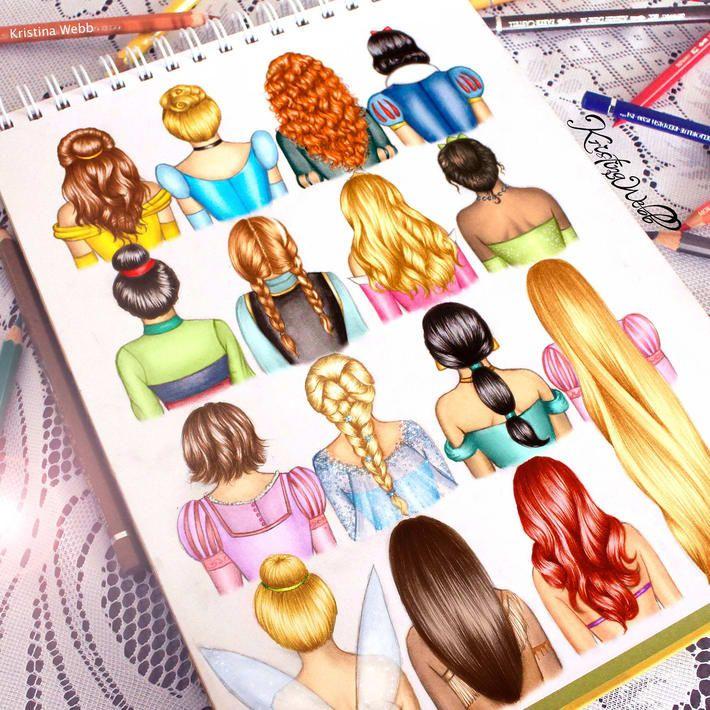 Drawn princess pretty princess 25+ Princesses This Disney Stunning
