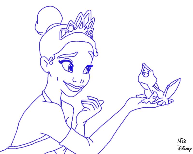 Drawn princess princess and the frog On DefyingGravityxoox Princess and line