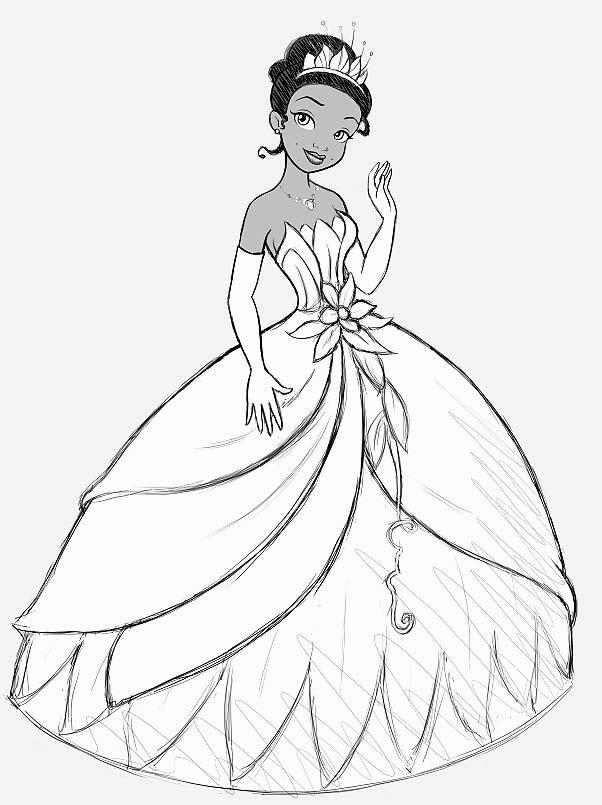 Drawn princess princess and the frog Princess Bag and – tiana