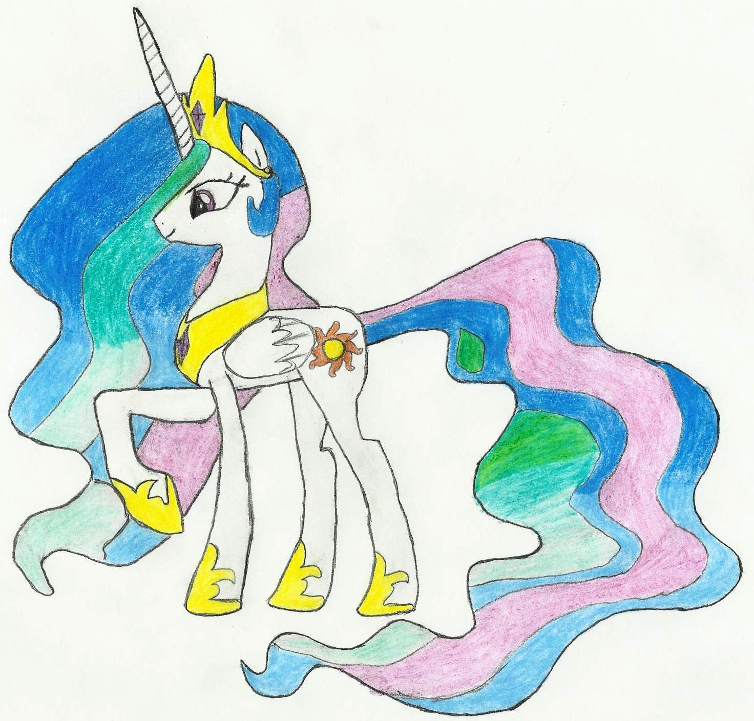 Drawn princess princess celestia Princess Princess seanway715 on seanway715