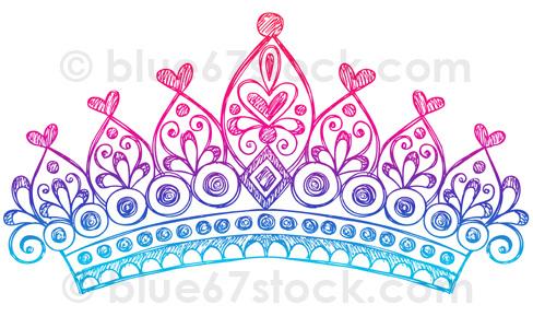Drawn princess princess crown Hand blue67stock Princess Doodle Flickr