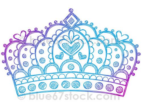 Drawn princess princess crown Drawn by Tiara Doodle