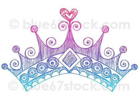 Drawn princess princess crown Drawn Hand Tiara Vector Drawing