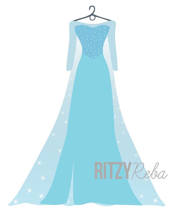 Dress clipart elsa dress Girls Playroom Elsa Childrens Print