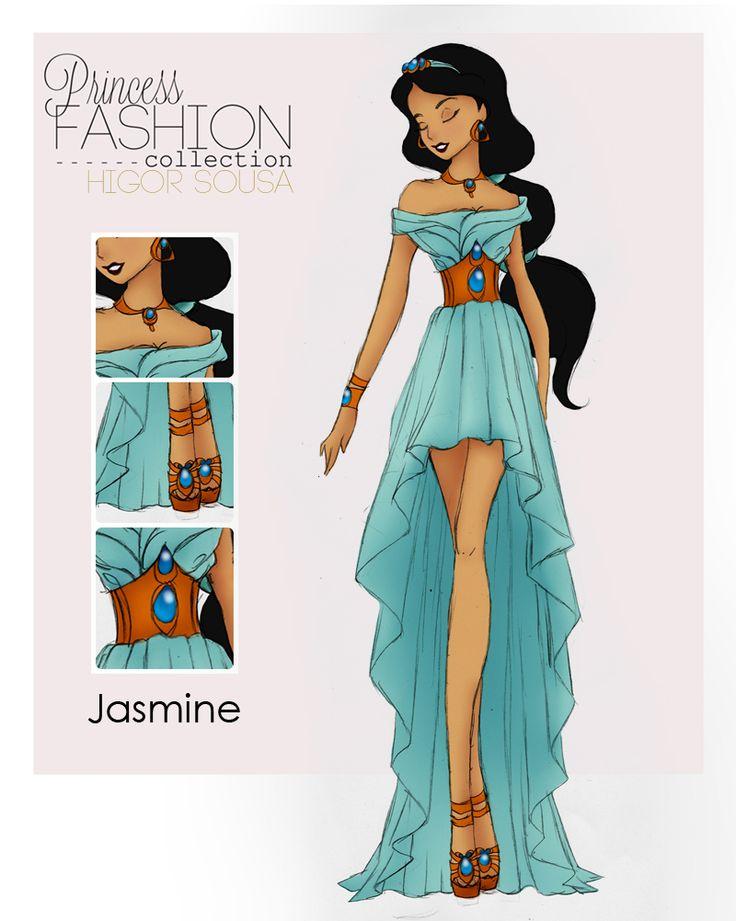 Drawn princess princess gown Jasmine Colection 156 princess by