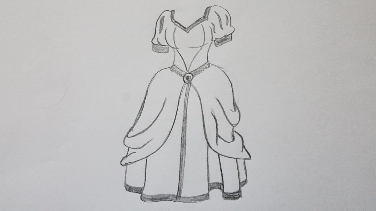 Drawn barbie frock Princess draw to dress dress