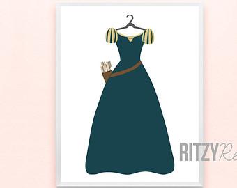 Drawn princess princess gown Merida Inspired Pixar Disney Princess