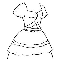 Drawn princess princess gown Drawing dress princess dress Coloring