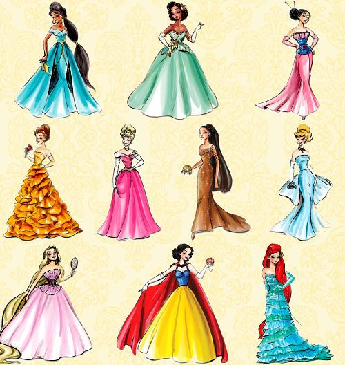 Drawn princess princess gown And draw Pin to fashioned