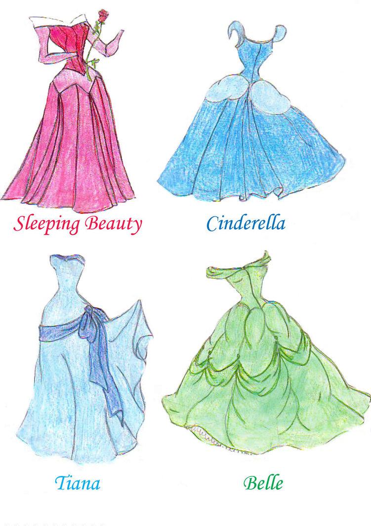 Drawn princess princess gown Princess Disney on princess dresses