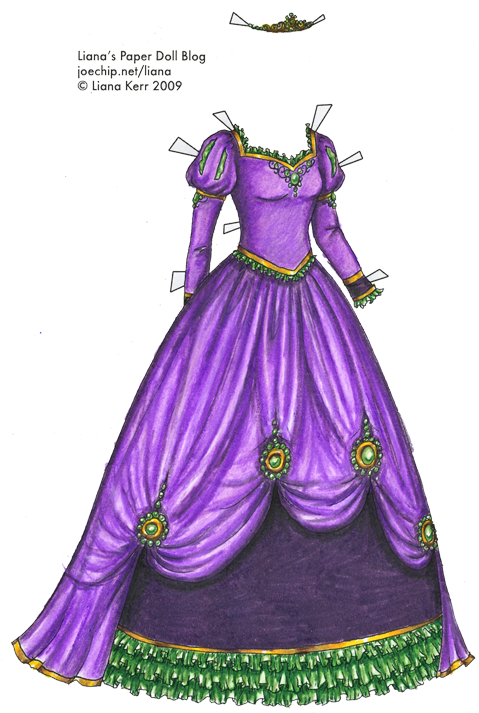 Drawn princess princess gown Version larger Dolls (PNG); princess