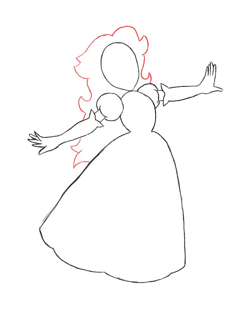 Drawn princess princess peach To Draw Draw Central Peach