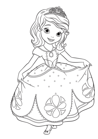 Drawn princess princess sofia Pages Free  First coloring
