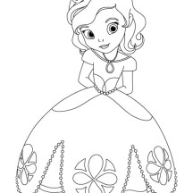 Drawn princess princess sofia Princess The NetArt Page Coloring