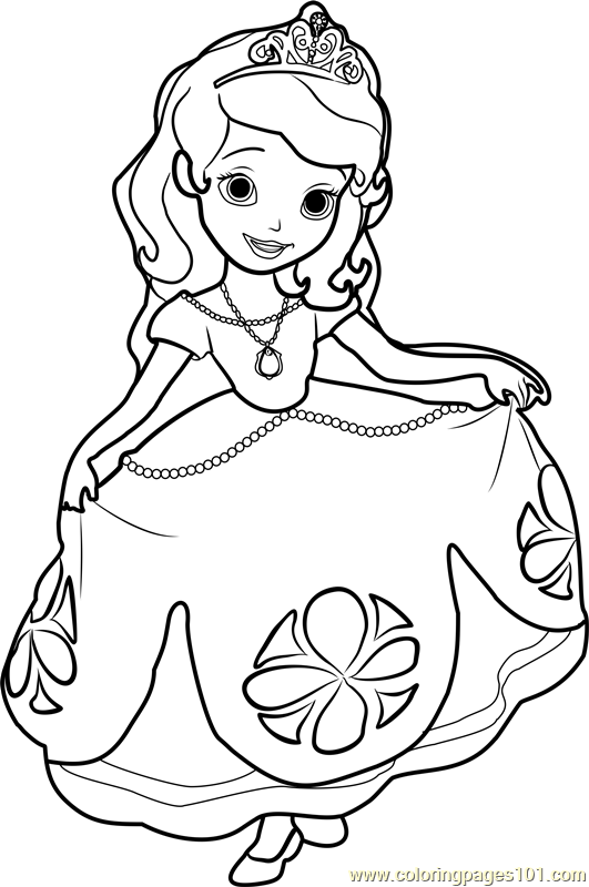 Drawn princess princess sofia Disney Coloring Free Coloring Princess