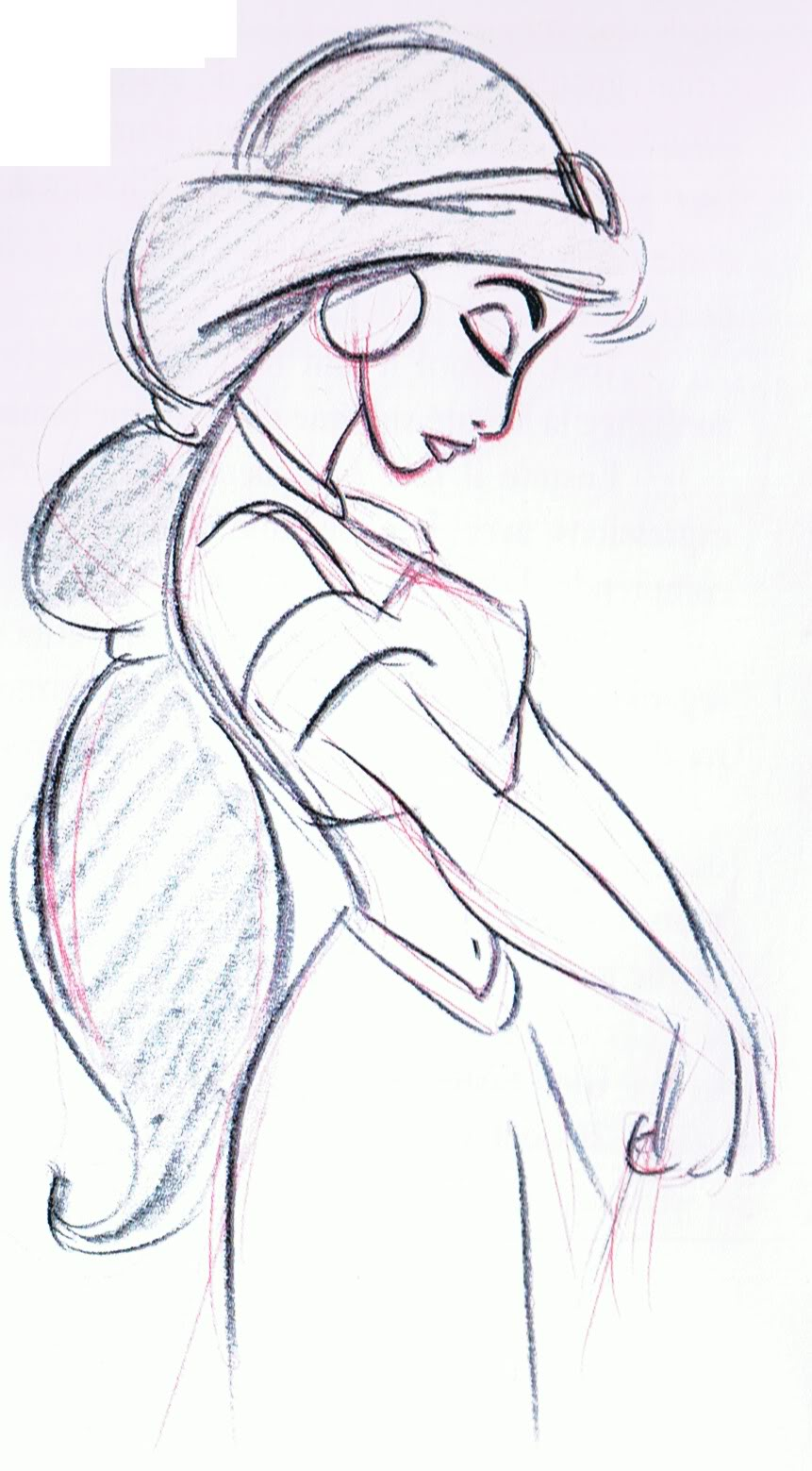 Drawn princess profile How SketchesDisney shoulders du Accueil